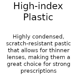 High-index plastic